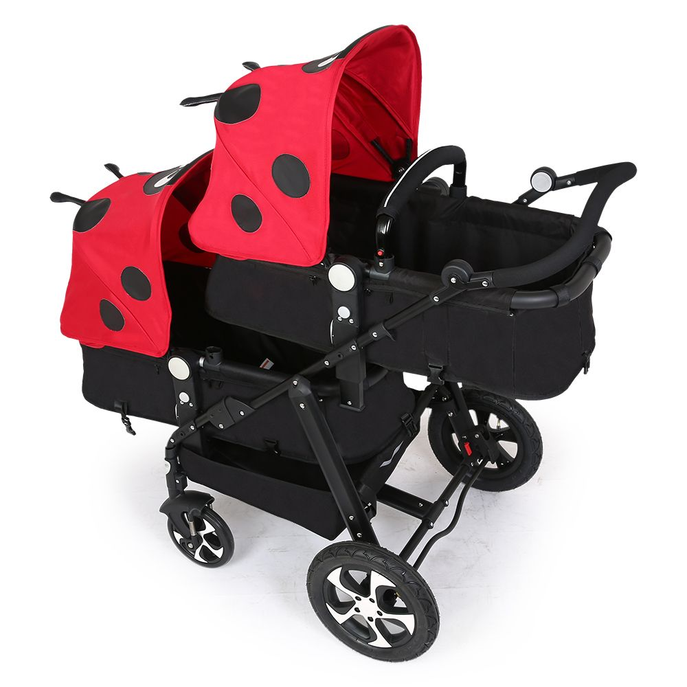 Baby Twins Double Separable Luxury Stroller High Landscape