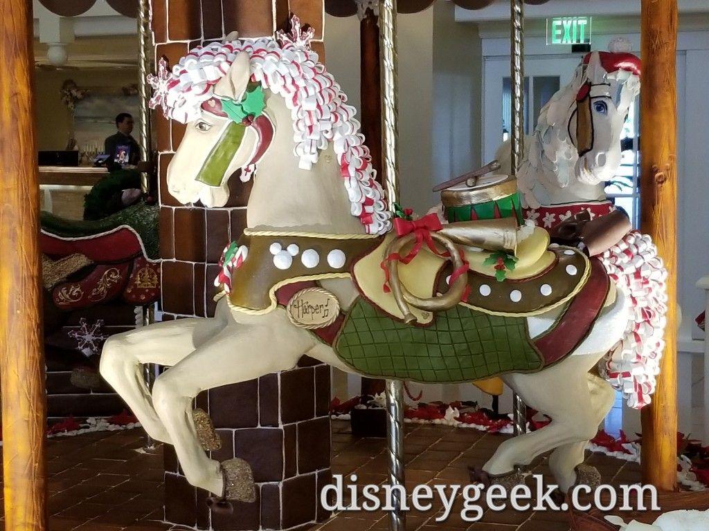 Wdw Day 7 Disney S Beach Club Resort Gingerbread Carousel
