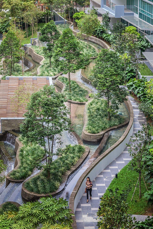 minton housing development realized by DP architects | Landscape ...