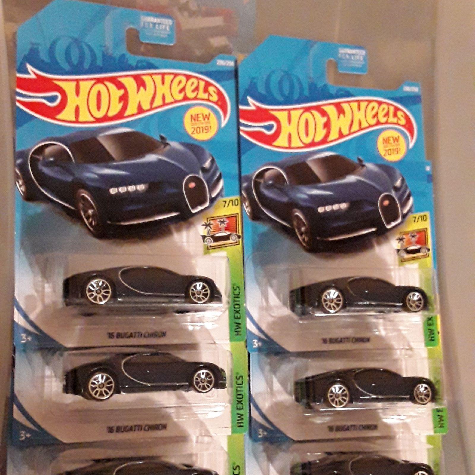 Hot Wheels BUGATTI CHIRON LOT OF 6. 2019 New Model. HTF