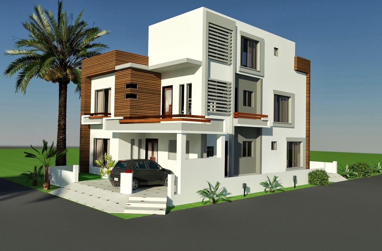 Awesome Home Design 5 Marla Corner Part - 12: 10 MARLA CORNER HOUSE PLAN DESIGN OF TARIQ GARDEN, LAHORE