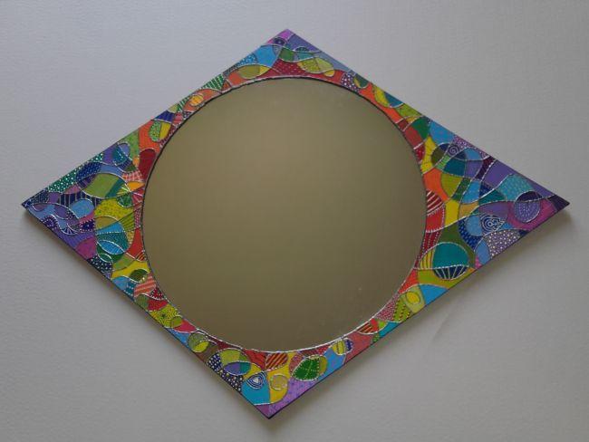 miroir en carton : losange