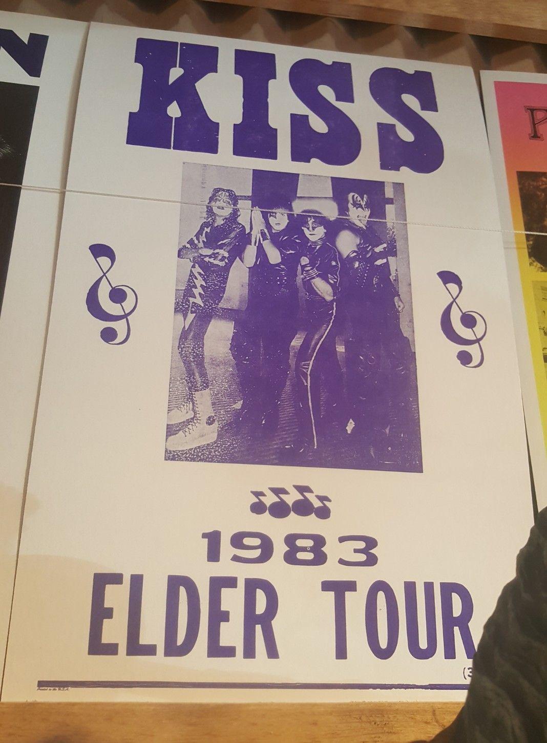 Kiss 1983 Elder Tour Tours Elderly Card Stock