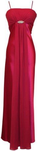 Satin & Chiffon Long Formal Bridesmaid Gown Prom Dress w/ Spaghetti Straps Deco Crystal Pin Junior Plus Size, Small, Fuchsia PacificPlex,http://www.amazon.com/dp/B004IGQ03I/ref=cm_sw_r_pi_dp_qaE6qb1CKA4VJRZB