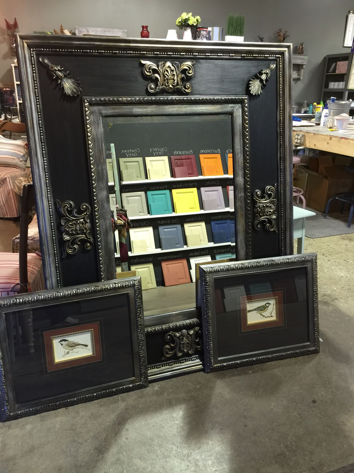 This Mirror And Picture Frames Was Done For A Customer,
