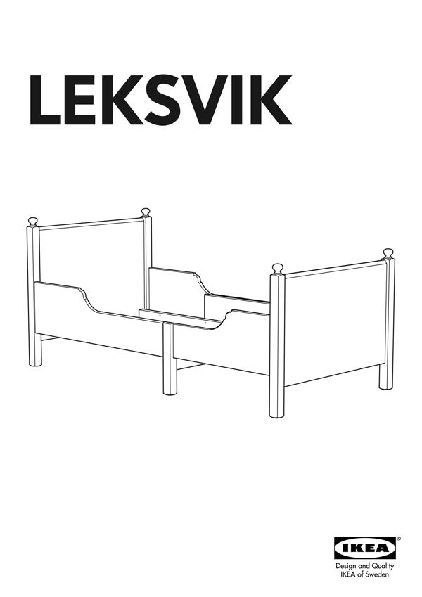Ikea Leksvik Extendable Bed Frame 38x75 Leksvik Ikea Leksvik