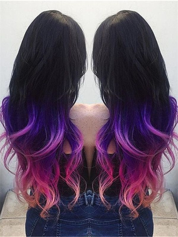 Purple Pink Colourful Hair Pinterest Hair Coloring Hair
