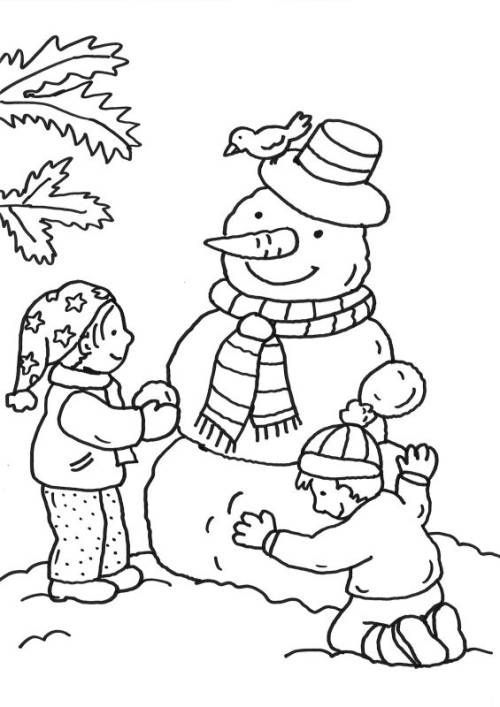 Ausmalbilder Kinder Bauen Schneemann Zum Ausmalen Coloringsheets Coloringbooks Coloringpage Coloring Pages Winter Detailed Coloring Pages Coloring Pages