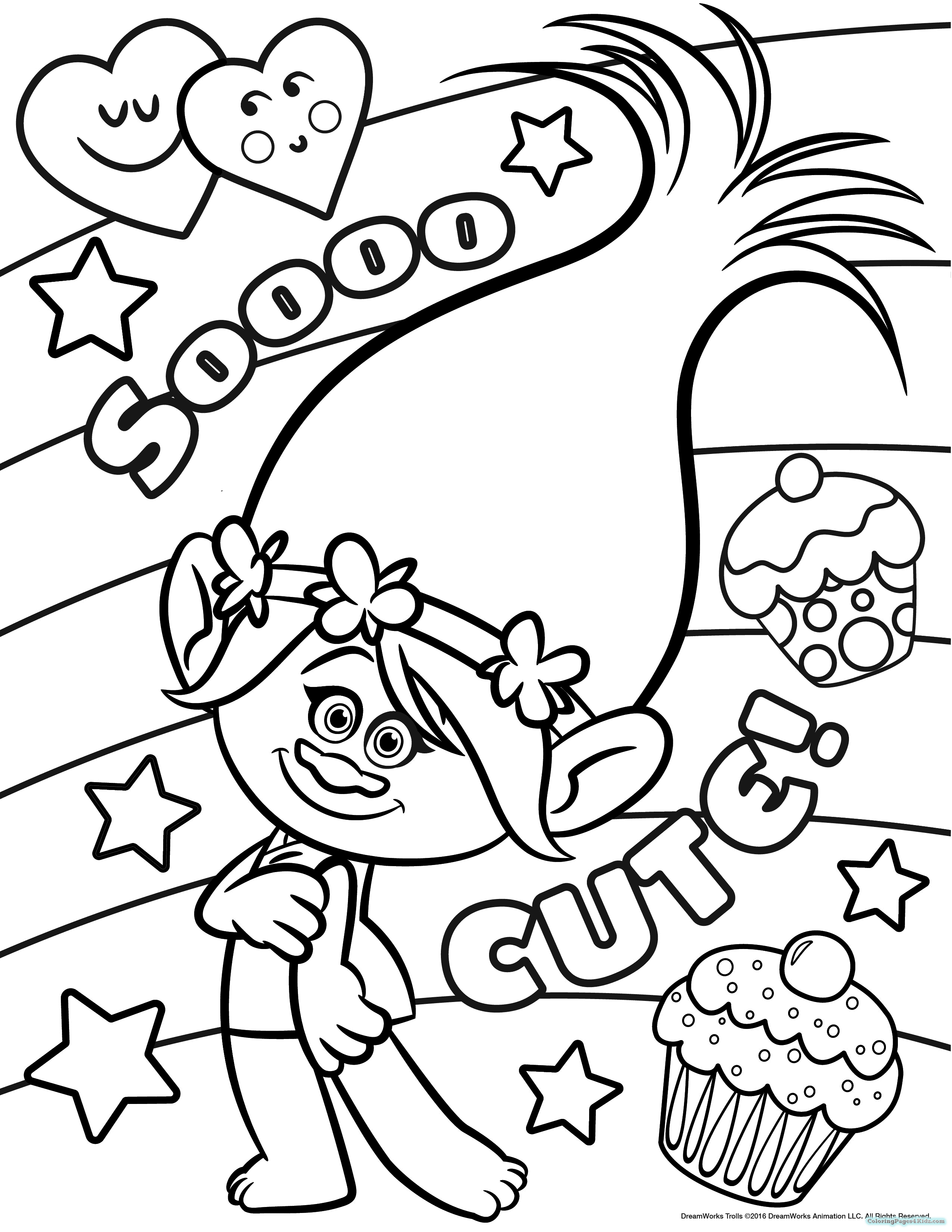 trolls coloring pages for dreamworks coloring pages for | diva dance ...