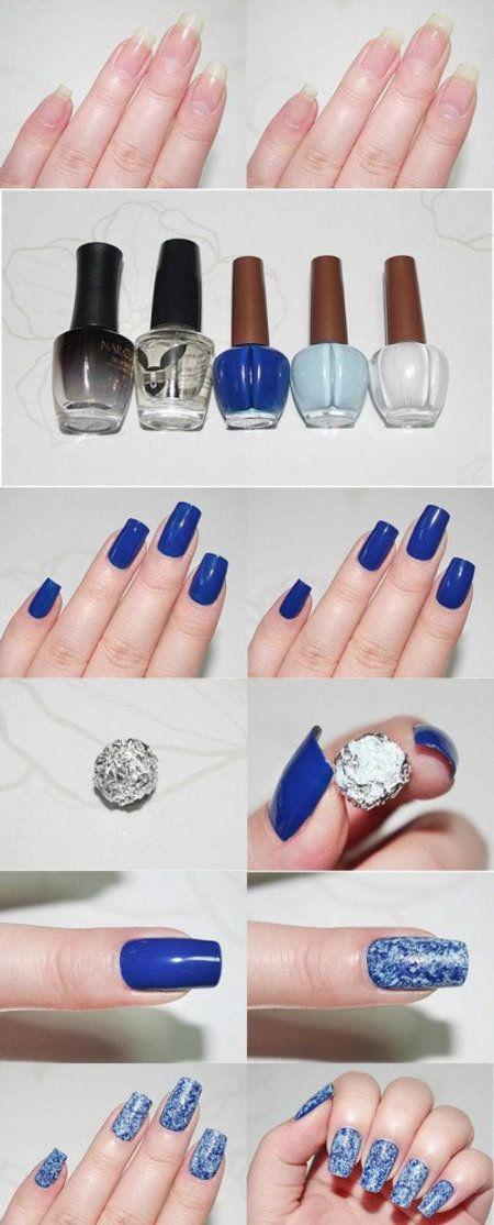 Saran Wrap Nails How-To. More nail art tutorials: