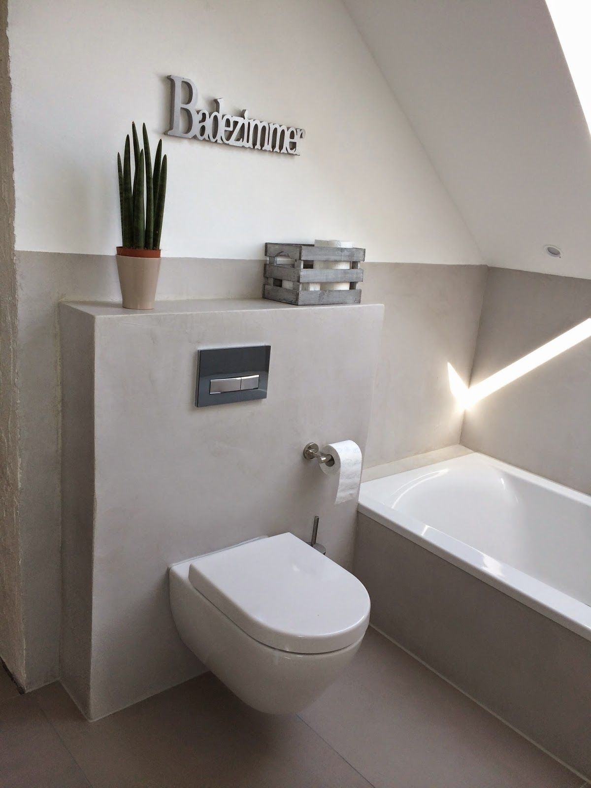 Wand Wohndesign Beton Cire September 2014 Badezimmer Badmobel Badezimmermobel Badmobel Set Spiegelschrank Bad Bad In 2020 Small Toilet Concrete Design Bad Design