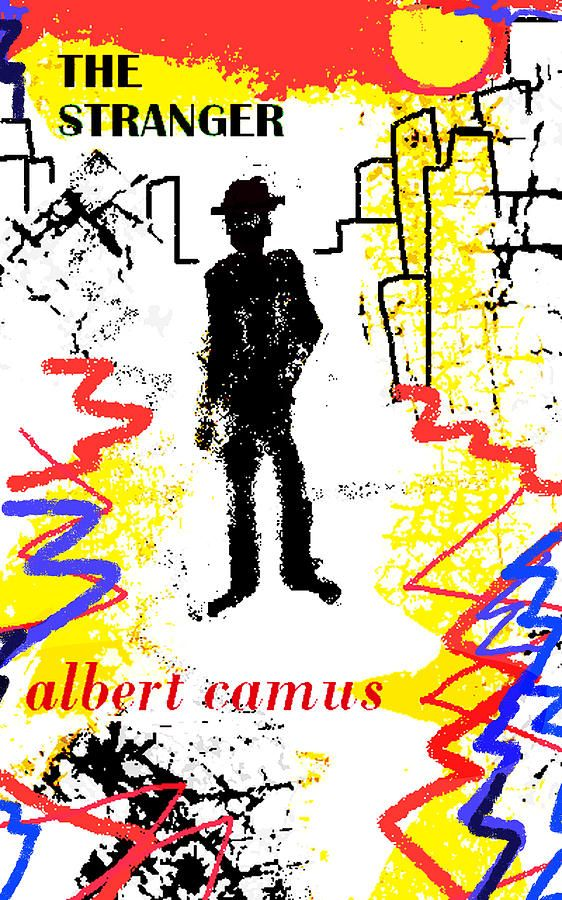 The Stranger Albert Camu Poster By Paul Sutcliffe Drawing Camus Essay