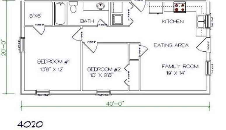 2 Bedrooms And 1 Bathroom Barndominium Floor Plans Barndominium Floor Plans Barndominium Plans Barn House Plans