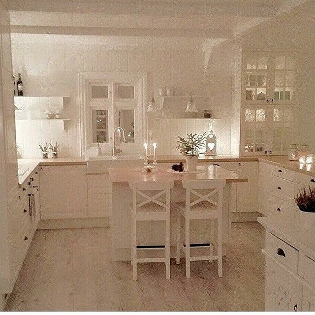 Traumk che kitchen cocinas cocinas blancas und for Innendekoration ikea