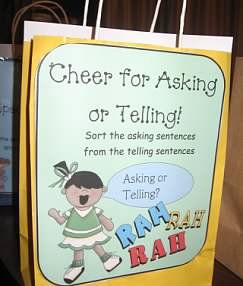 Using paper bags to manage classroom centers...this blog is for first grade, but it adaptable for any grade level!