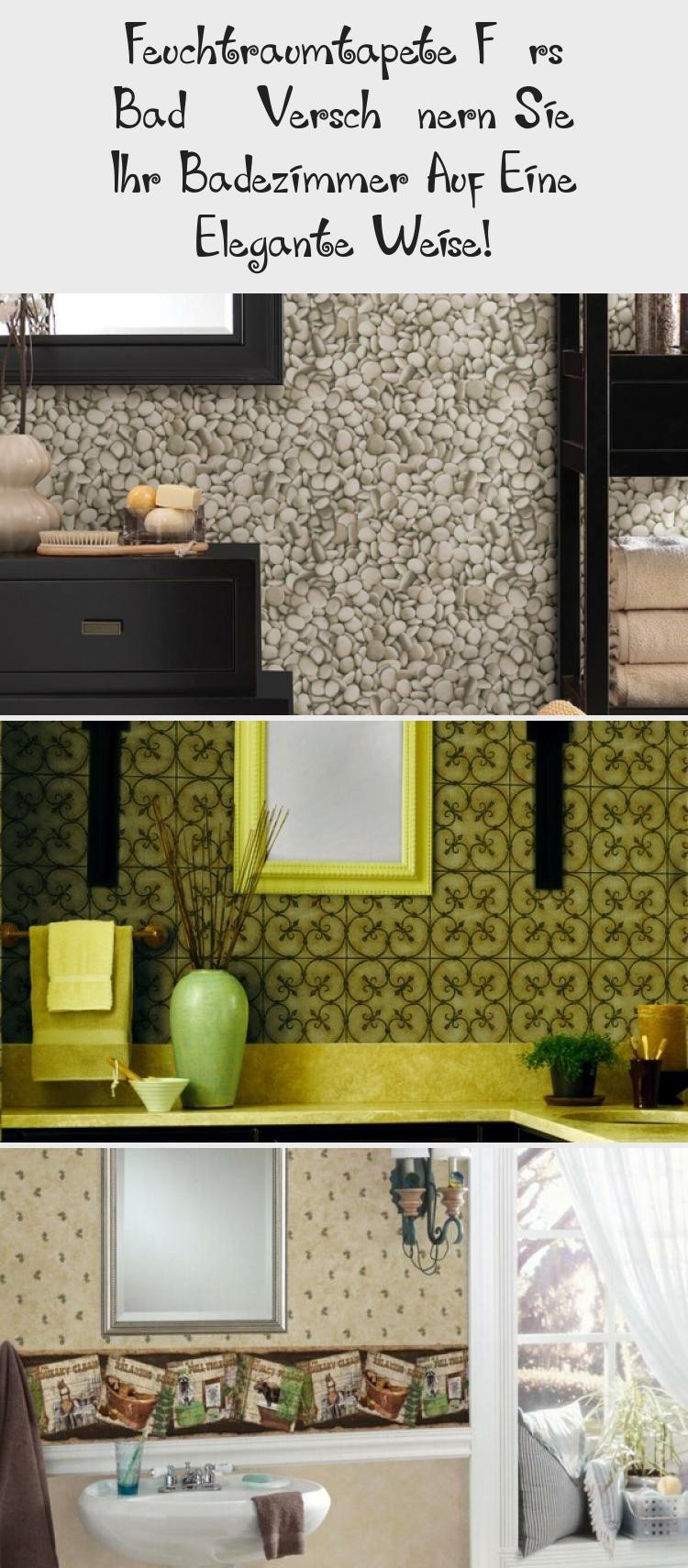 Feuchtraumtapete Furs Bad Verschonern Sie Ihr Badezimmer Auf Eine Elegante Weise Pinokyo In 2020 Decor Home Decor Furniture