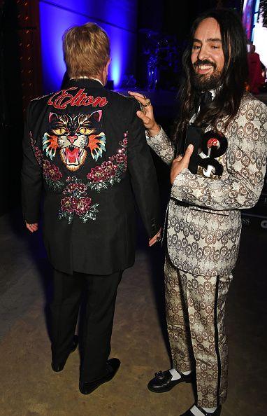 105fb7e8e Elton John and Alessandro Michele | Celebrities wearing Gucci in ...
