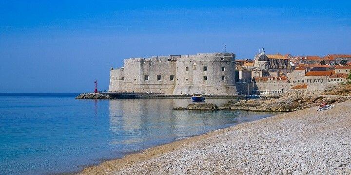 Banje Beach, Dubrovnik, Dalmatia, Croatia