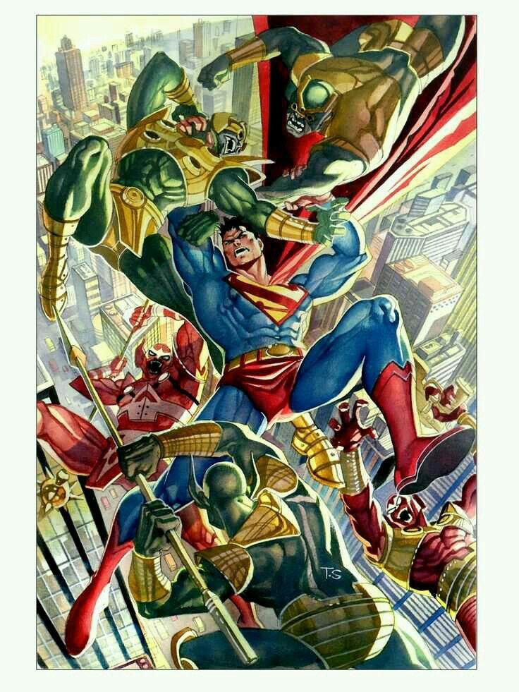 Darkseid's Parademons Regiment has differing classes of Parademons fighting Superman