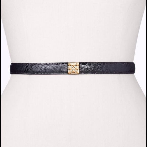 """ANN TAYLOR - NWT Leather Square Brandmark Belt Ann Taylor signature-embossed buckle luxes up this finely textured belt, finished with a touch of elastic for superb fit. Snap closure. 3/4"""" width.  COLOR: Brown (as shown in 2nd pic) Ann Taylor Accessories Belts"""