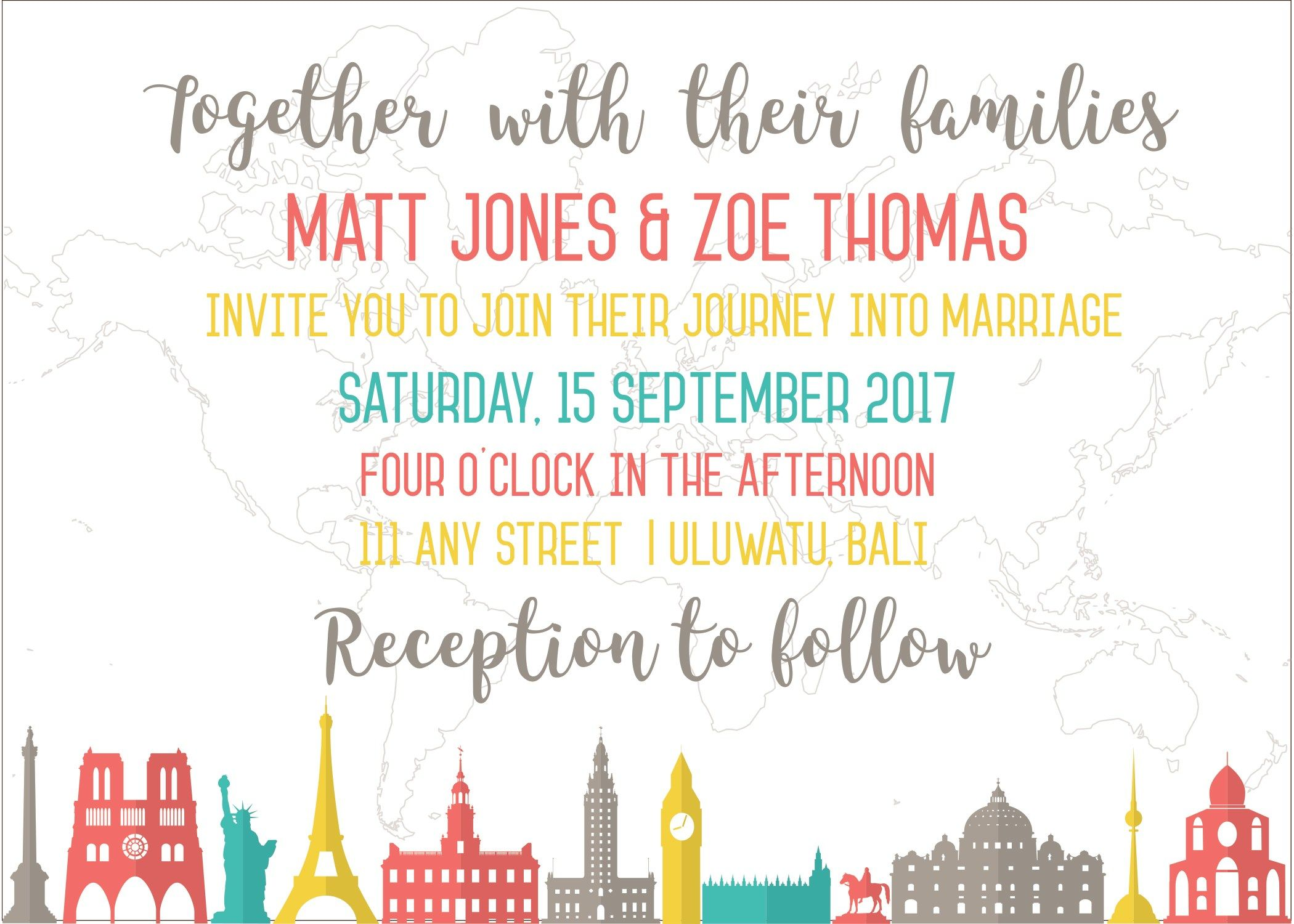 6 Adorable Travel Wedding Invites You\'ll Love + Free Graphics ...