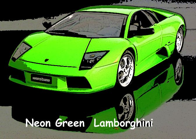 Neon Green Lamborghini | Neon Green Lamborghini By I Caught Myself