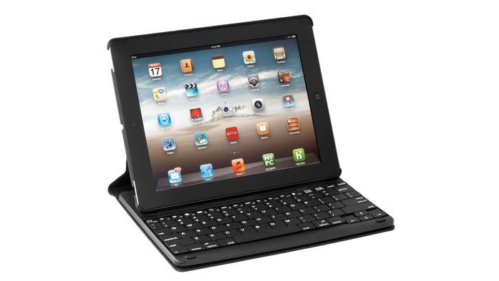 and iPad become a laptop with this ipad case with detachable keyboard. love it!