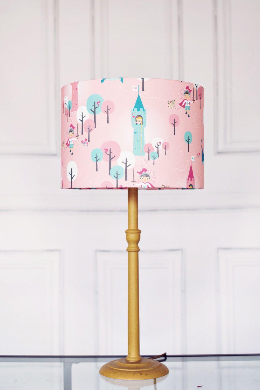 Dragon Girl Lampshade Pink Lamp Childrens Lampshade Kids