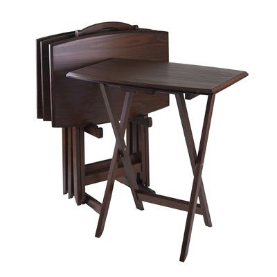 Winsome Wood 94517 5-Piece Oversize Piece Tray Table Set  sc 1 st  Pinterest & Winsome Wood 94517 5-Piece Oversize Piece Tray Table Set | Interior ...
