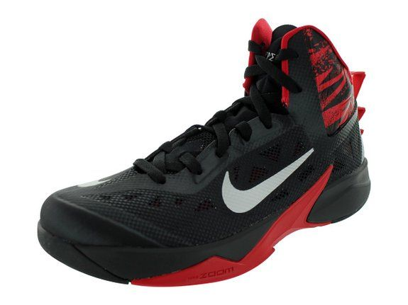 online store b9ba3 d4a79 Nike Men s Zoom Hyperfuse 2013 Running Shoes 615896 Black   Metallic Silver-Gym  Red 9.5