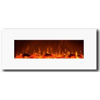 Lauderhill Wall Mounted Electric Fireplace Wall Mounted