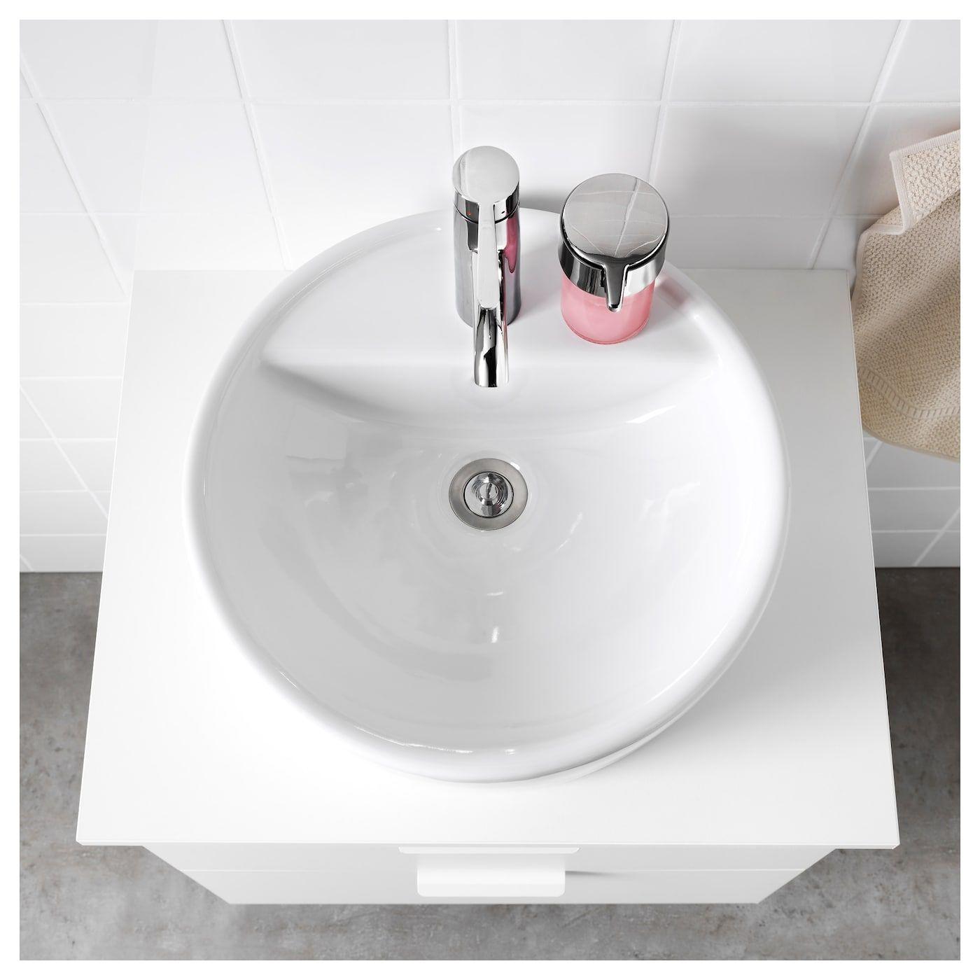 Tornviken Countertop Sink White 17 3 4 Lavabo A Poser Vasque Ikea Ikea