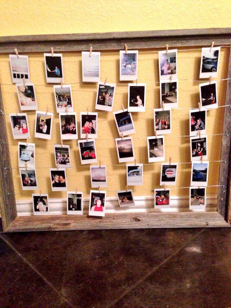 Cute way to hang Polaroids