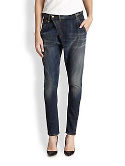 100% Original Release Dates Cheap Price Womens Crossover Distressed Denim Jeans R13 Real Online Sale Many Kinds Of Choice Cheap Online wlYSrP7