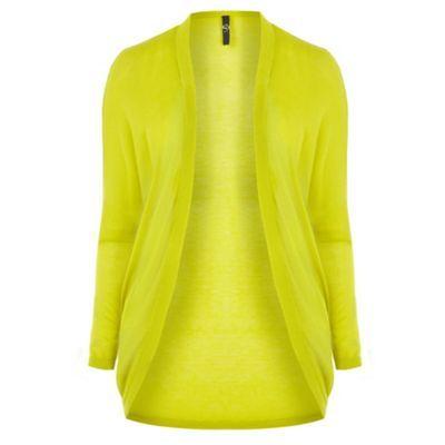 Evans Lime drop shoulder cardigan- at Debenhams.com
