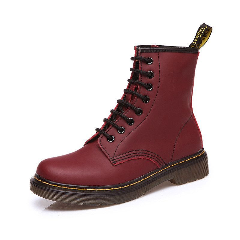 Women Boots Doc Martins 2016 British Dr Martins Vintage Classic Genuine  Martin Boots Female Thick Heel Motorcycle Women s Shoes b3e67481b37c