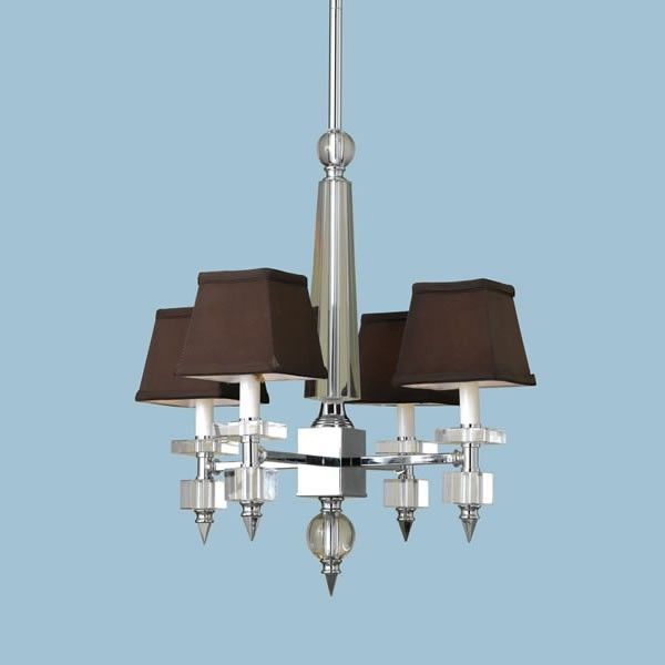 Candice Olson Lighting Chandeliers | AF Lighting 7476-4H Candice Olson Mini Chandelier - Chrome finish