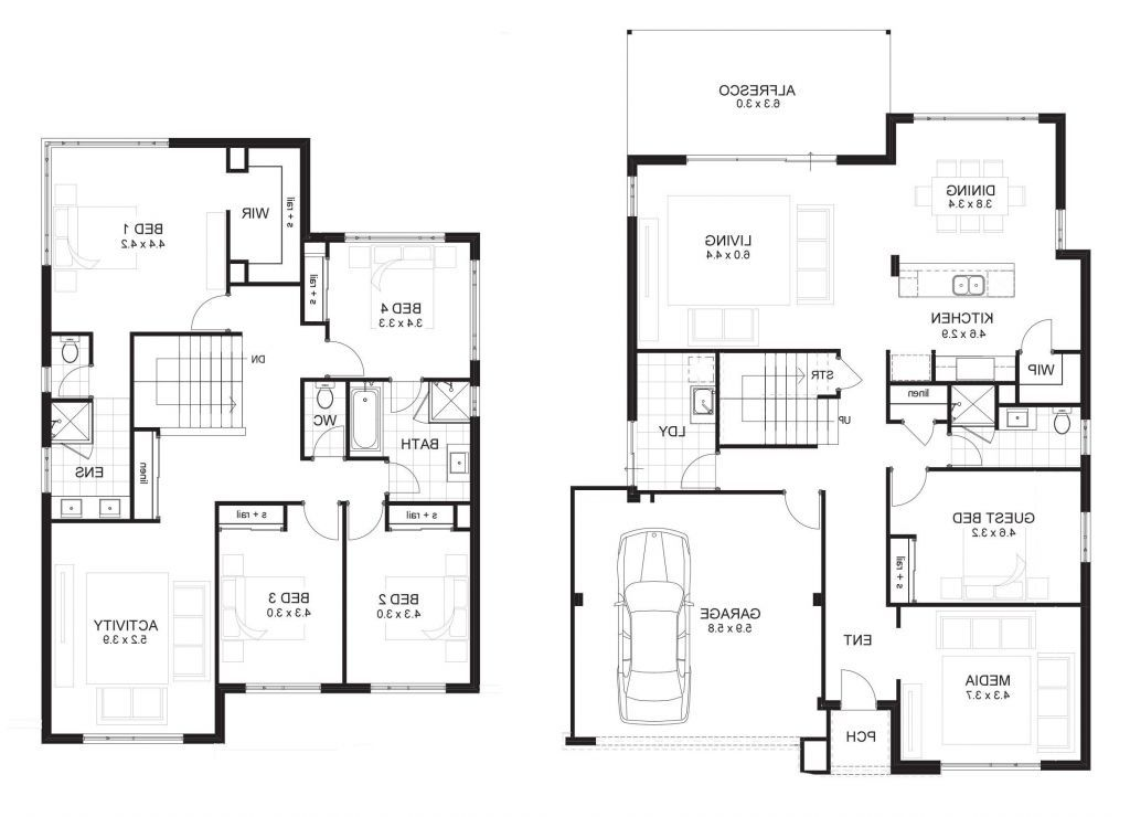 Two Story Master Down Floor Plans in 2020 Mobile home