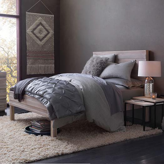 Stria Bed - Cerused White | Dormitorio