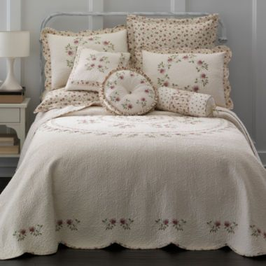 Home Expressions™ Lynette Embroidered Bedspread & Accessories  found at @JCPenney