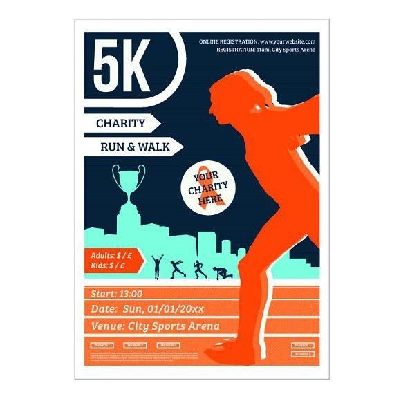 5k Charity Run Poster Charity Run Flyer Template Flyer