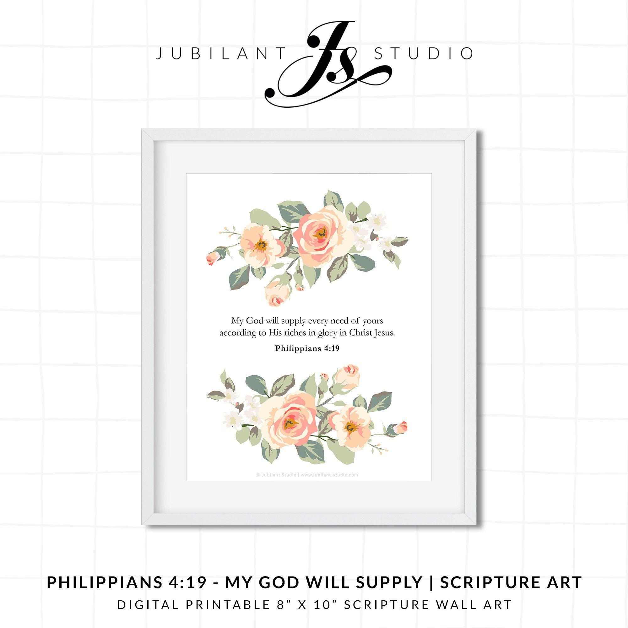 Philippians 419 My God Will Supply Digital Printable