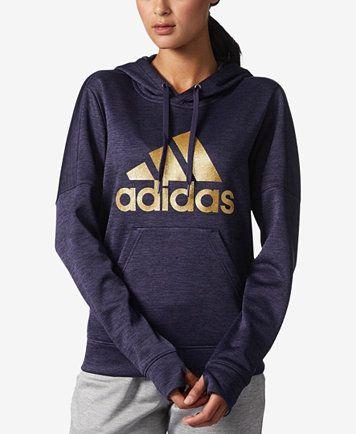 adidas Metallic Logo Fleece Hoodie, Macy's Exclusive Style