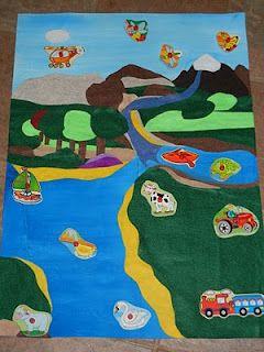 diy land air & water mat activity