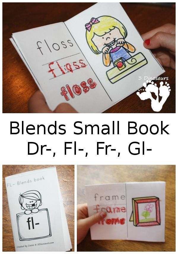 Blends Small Book Dr-, Fl-, Fr-, Gl- Learning to Read Reading