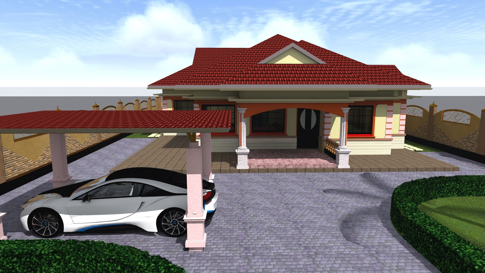 Four Bedroom Bungalow House Plan Muthurwa Com Bungalow House Plans 4 Bedroom House Plans House Designs In Kenya