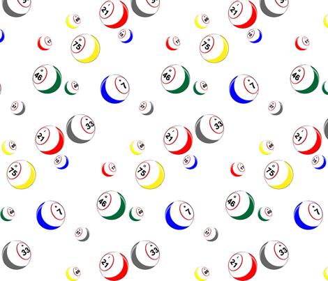Colorful Fabrics Digitally Printed By Spoonflower Bingo Balls Printing On Fabric Fabric Buy Fabric Online