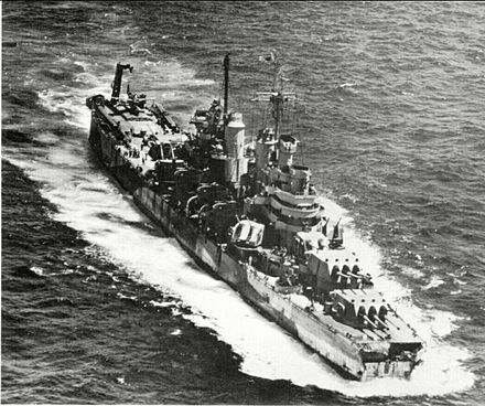 USS Pittsburgh (CA-72) - Wikipedia, the free encyclopedia Heavy Cruiser Pittsburgh with damage from her bow shearing off in a typhoon