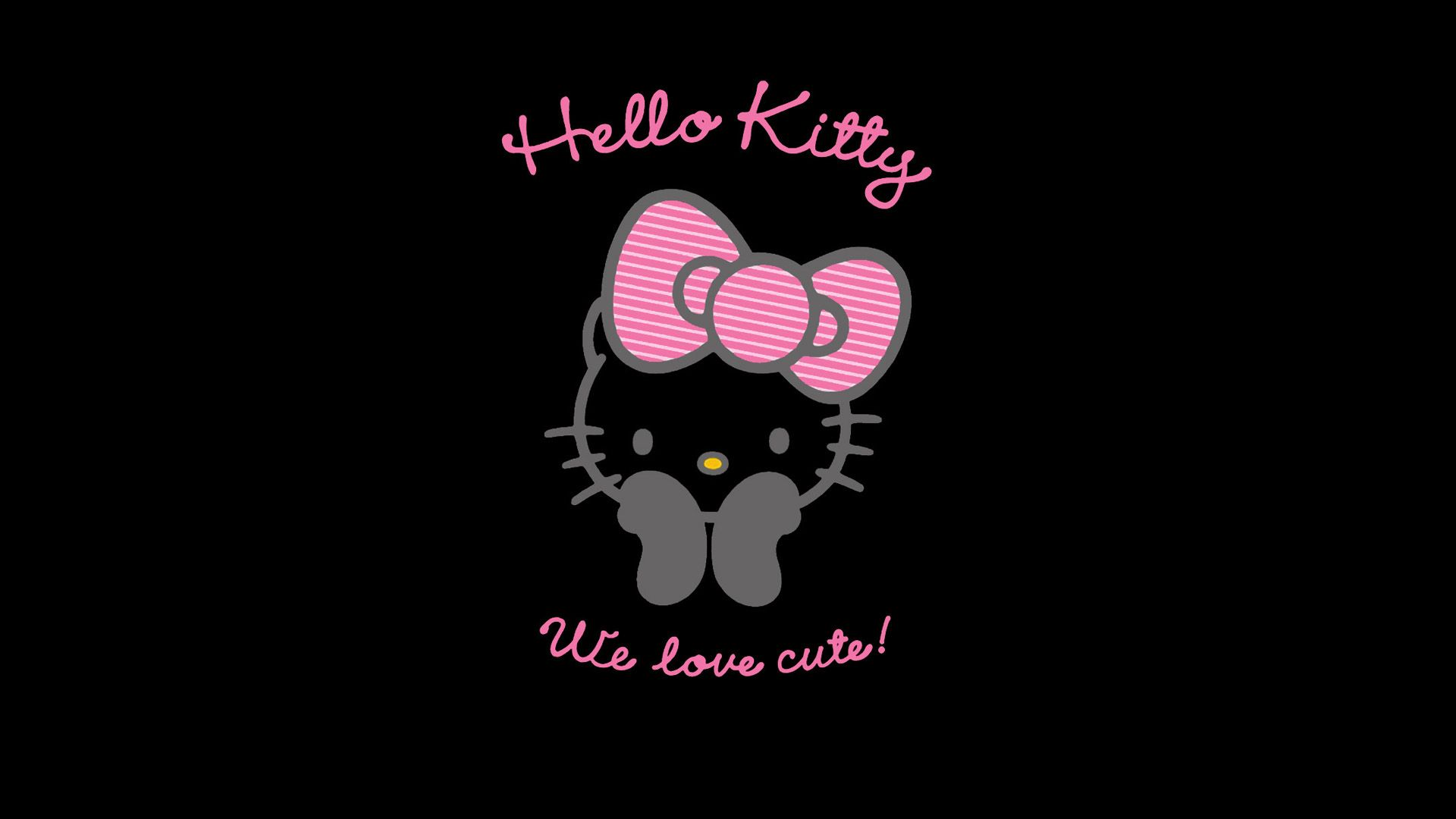 Black Hello Kitty Background Wallpaper Hello Kitty Wallpaper Hello Kitty Backgrounds Hello Kitty Images