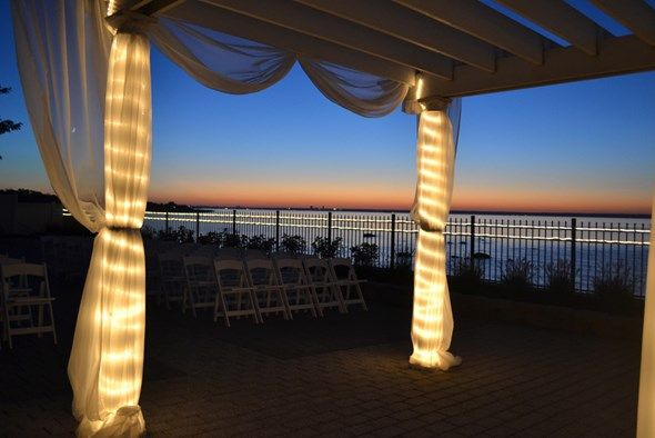 #Ceremony #Outside #Sunset #Water #front #Soundview ...
